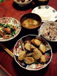 momo's Aroma room 京都のリンパマッサージ & アロマ-【ブログ】夕食メニュー。