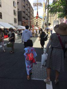 momo's Aroma room 京都のリンパマッサージ & 子連れで行けるアロマサロン-【ブログ】祇園祭行ってきました。